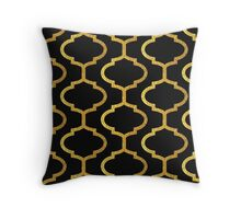 Gold mughal lattice Pattern Throw Pillow