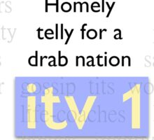 Telly for Brits Sticker