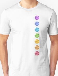 Spiral Chakras, Cosmic Energy Centers, Evolution, Meditation, Enlightenment Unisex T-Shirt