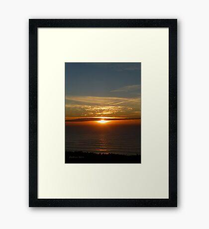 San Francisco Sunset 1422 Framed Print
