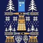 Doctor Who Ugly Sweater by Alex Pawlicki