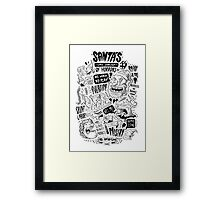 Santa's Little Workshop of Horrors Framed Print