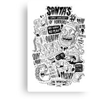 Santa's Little Workshop of Horrors Canvas Print