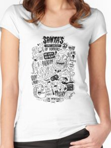 Santa's Little Workshop of Horrors Women's Fitted Scoop T-Shirt
