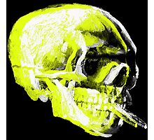 Van Gogh Skull with burning cigarette remixed x Photographic Print