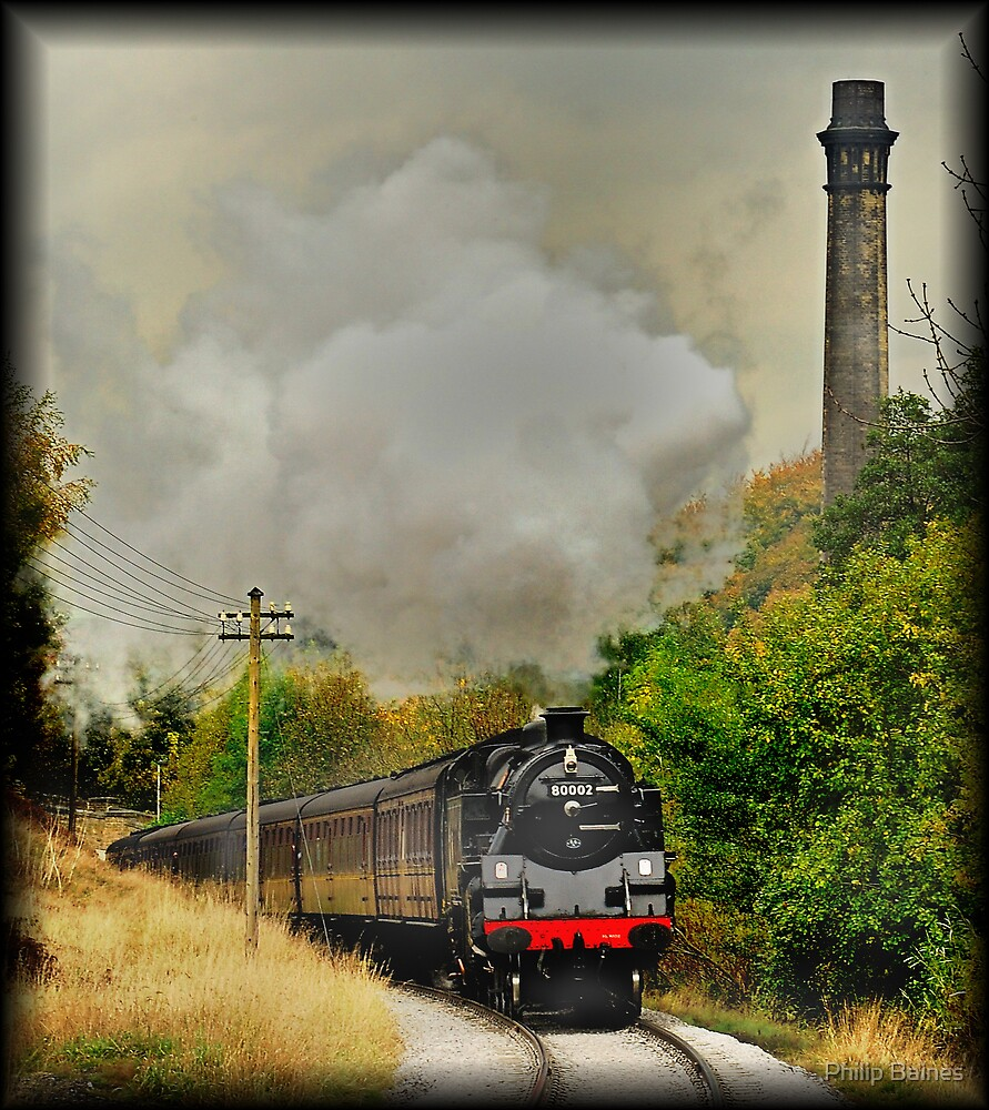 Approaching Haworth Station by Philip Baines