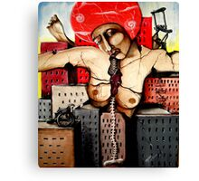 and what's left are the pieces of a woman Canvas Print