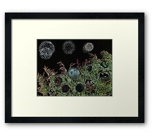 Merry Christmas with firework  Framed Print