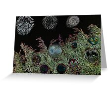 Merry Christmas with firework  Greeting Card