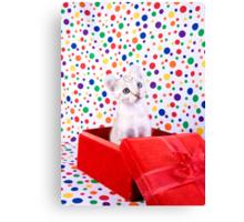 Birthday Party Kitten Canvas Print