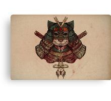 Samurai cat Canvas Print