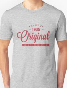 Since 1935 Original Aged To Perfection Unisex T-Shirt