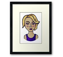 Blonde girl Framed Print