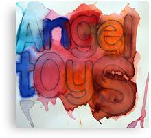 Luke's Angel Toys Canvas Print