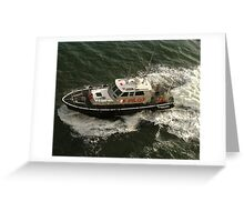 Pilot Boat coming along side. Greeting Card