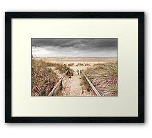 Brancaster Steps Framed Print