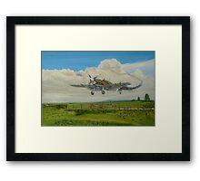 Spitfire's Safe Return  Framed Print