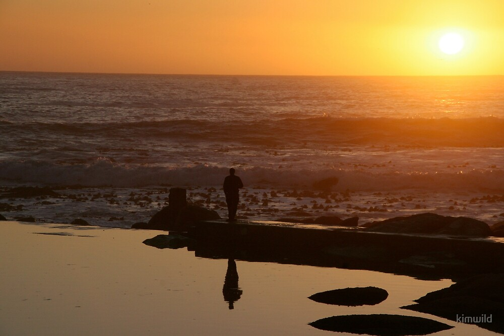 Man at Sunset by kimwild