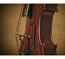 Violin Profile Photographic Print