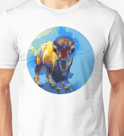 On the Plain - Bison painting Unisex T-Shirt