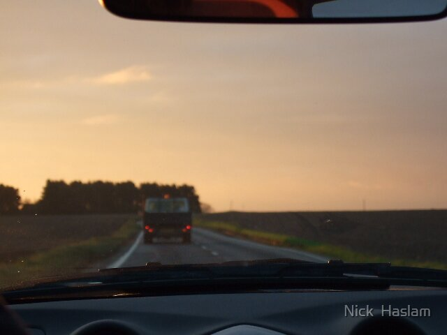 lonely skys for a lonely truck by Nick  Haslam
