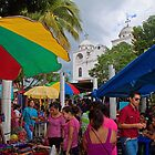 Guatemala. Flores. Market in front of the Cathedral. by vadim19