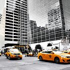 Taxis in motion.....New York City by Poete100