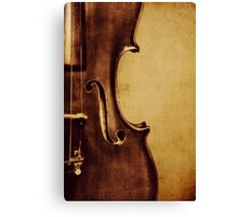 Violin Portrait Canvas Print