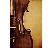 Violin Portrait Photographic Print