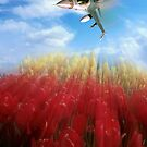 Tulips and Falcon by Bob Martin