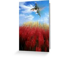 Tulips and Falcon Greeting Card