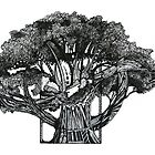 Tree of Summer, Ink Drawing by Danielle Scott
