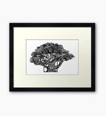 Tree of Summer, Ink Drawing Framed Print