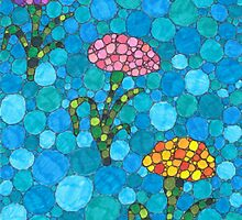 Circle Flowers by Mandy Klein