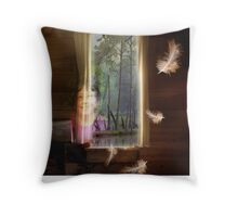 Gathering Feathers - Image and Short Story Throw Pillow