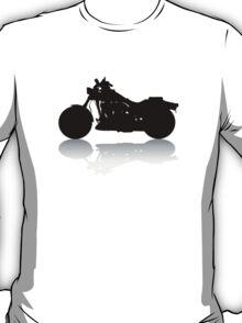 Cruiser Motorcycle Silhouette with Shadow T-Shirt