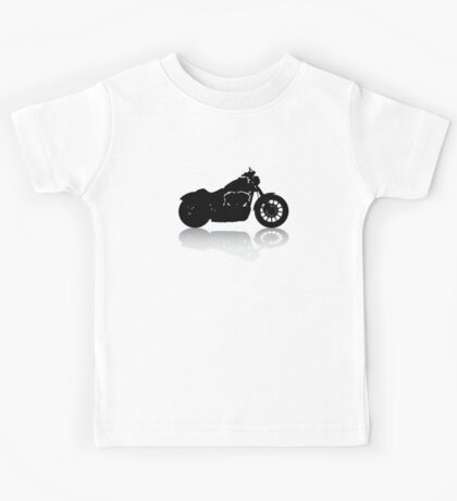 Cruiser Motorcycle Silhouette with Shadow Kids Tee
