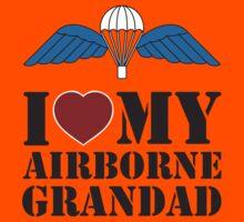I LOVE MY AIRBORNE GRANDAD Kids Tee