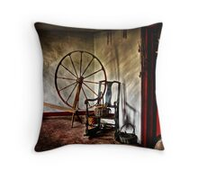 Spinning wheel and a chair Throw Pillow