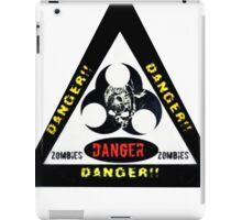 Danger zombies iPad Case/Skin