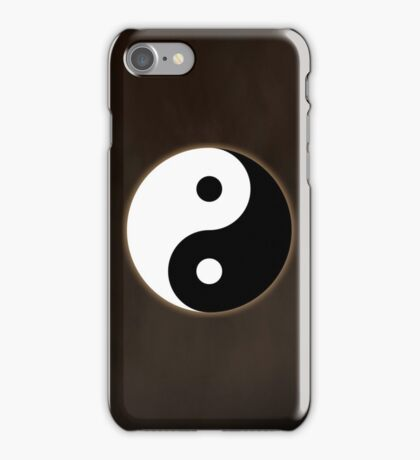 Ying Yang Colored Case-Brown iPhone Case/Skin