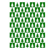 Christmas Tree Pattern Photographic Print