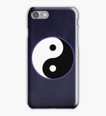 Ying Yang Colored Case-Dark Blue iPhone Case/Skin