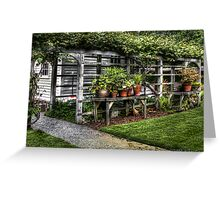 Flower pots II Greeting Card