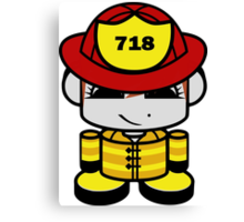 Firefighter Hero'bot 2.0 Canvas Print