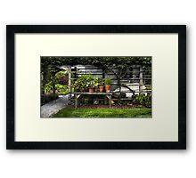 Flower pots III Framed Print