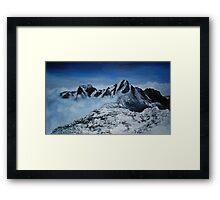 Snowy Alps Framed Print