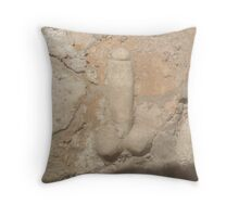 Pompeii, Stone Penis, Knob, Phallic, Brothel Sign Throw Pillow