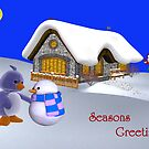 Seasons Greetings My Friend   by Catherine Crimmins