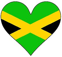 Jamaica Flag Heart by kwg2200